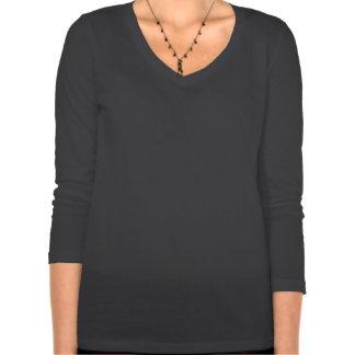 Camiseta del 3/4-Sleeve de las señoras de la reina Playeras
