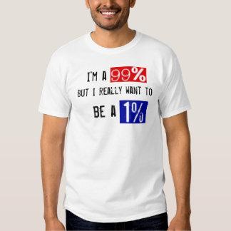 Camiseta del 99 por ciento polera