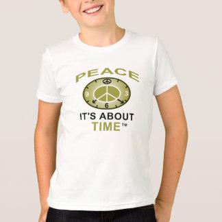 Camiseta del AA del RELOJ del SÍMBOLO de PAZ
