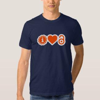 camiseta del acceso abierto del ♥ i remera