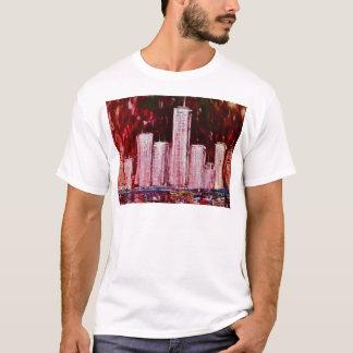 Camiseta del adulto de los rascacielos de Nueva