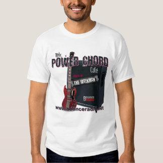 Camiseta del adulto del café del acorde del poder poleras