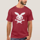 Camiseta del adulto del cráneo del conejito de