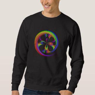 Camiseta del adulto del remolino del arco iris sudadera con capucha