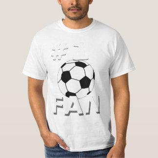 Camiseta del aficionado al fútbol del número 1