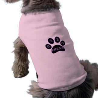 Camiseta del agente….¡para los agentes solamente! playera sin mangas para perro