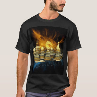 Camiseta del ajedrez con el caballero y los
