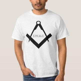 Camiseta del albañil del Swag