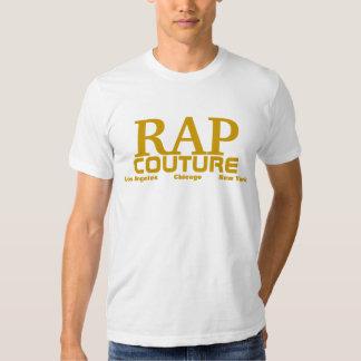 Camiseta del álbum del oro de las costuras del rap playera