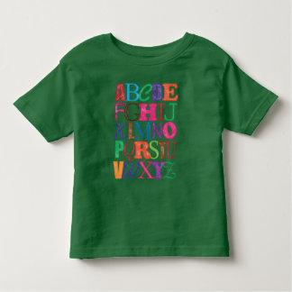 Camiseta del alfabeto remeras