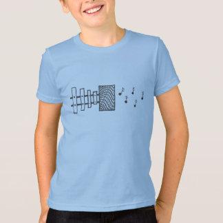 Camiseta del altavoz del xilófono
