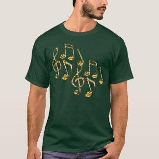Camiseta del amante de la música de las notas
