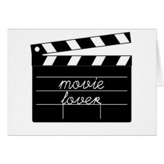 Camiseta del amante de la película tarjeta de felicitación
