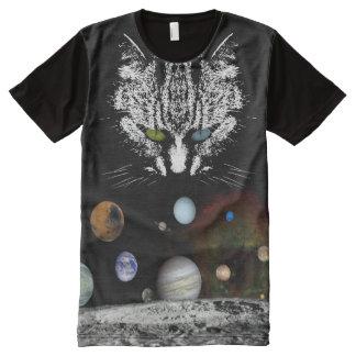 Camiseta del amante del gato del espacio exterior