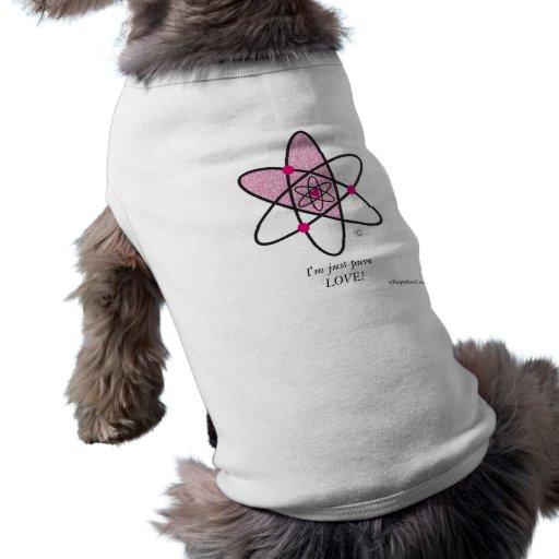 Camiseta del amor adolescente camisas de mascota