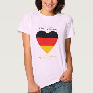 Camiseta del amor de la bandera de Alemania Camisas
