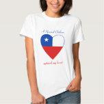 Camiseta del amor de la bandera de Chile Playeras
