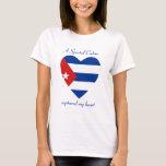 Camiseta del amor de la bandera de Cuba