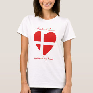 Camiseta del amor de la bandera de Dinamarca