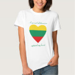 Camiseta del amor de la bandera de Lituania Poleras