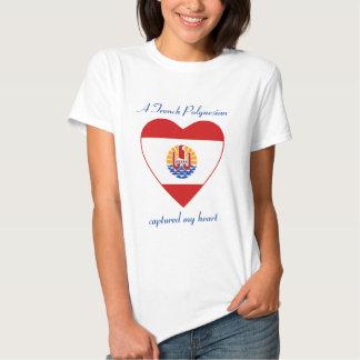 Camiseta del amor de la bandera de Polinesia Remeras