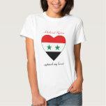 Camiseta del amor de la bandera de Siria Poleras