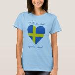Camiseta del amor de la bandera de Suecia