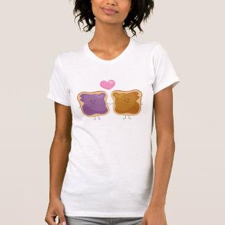 Camiseta del amor de la mantequilla y de la jalea