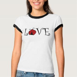 Camiseta del amor de la mariquita