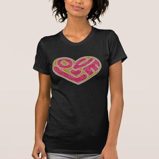 Camiseta del amor de las mujeres y de las señoras playeras