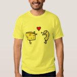 Camiseta del amor de los macarrones y del queso playera