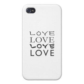 Camiseta del amor del amor del amor del amor iPhone 4 cárcasas