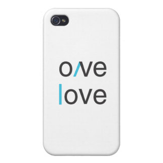 Camiseta del amor del amor del amor del amor iPhone 4 coberturas