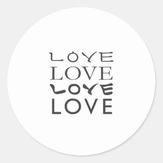 Camiseta del amor del amor del amor del amor pegatina redonda
