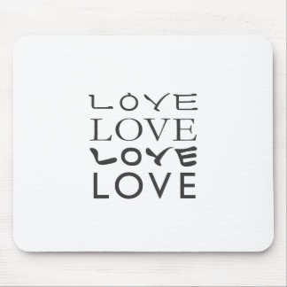 Camiseta del amor del amor del amor del amor alfombrillas de ratón
