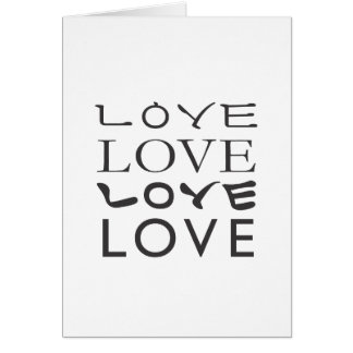 Camiseta del amor del amor del amor del amor tarjeta