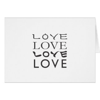 Camiseta del amor del amor del amor del amor tarjetón