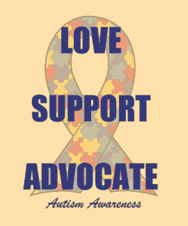 Camiseta del amor del autismo playeras