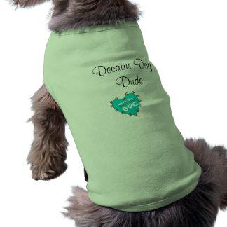 Camiseta del amor del perro de Decatur Playera Sin Mangas Para Perro