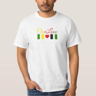 Camiseta del amor del valor uno