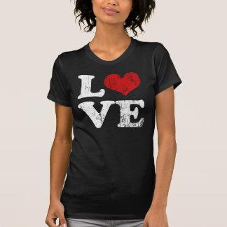 Camiseta del amor del vintage