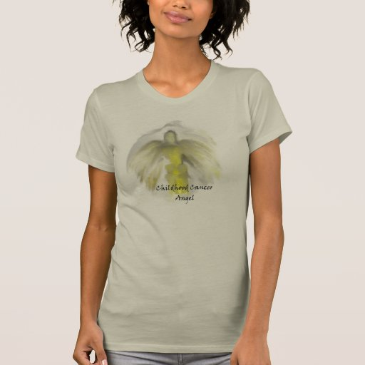 Camiseta del ángel del cáncer de la niñez de las m