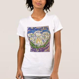 Camiseta del ángel del rezo de la serenidad