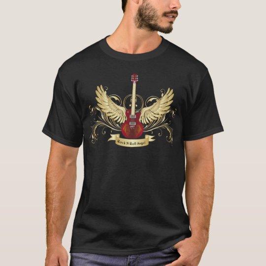Camiseta del ángel del rollo de la roca n