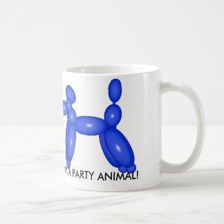 Camiseta del animal del globo de la diversión taza básica blanca