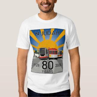 ¡Camiseta del aniversario de N Judah 80.o! Poleras