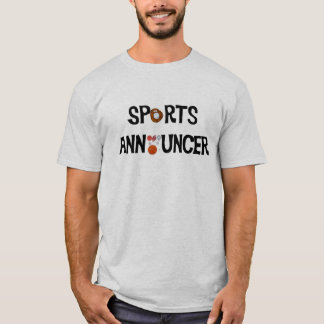 Camiseta del anunciador de deportes