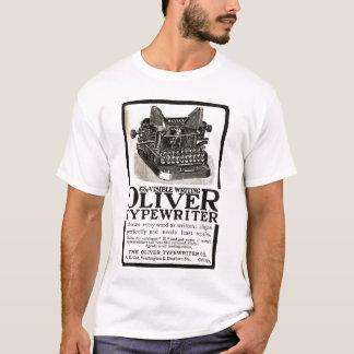Camiseta del anuncio de la máquina de escribir de