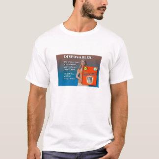 Camiseta del anuncio de los materiales desechables
