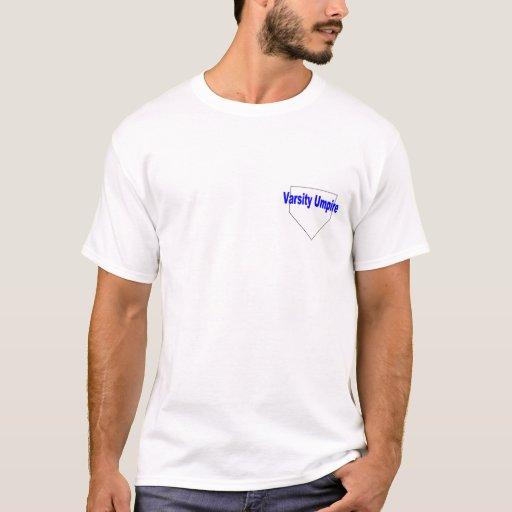 Camiseta del árbitro del equipo universitario